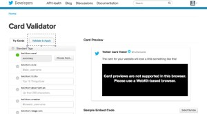 ツイッターカード申請方法